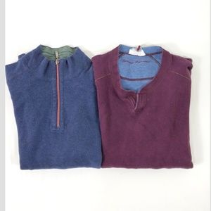 (2) Tommy Bahama Pull Over Reversible Sweaters L